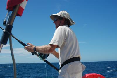 Richard fights the skipjack tuna