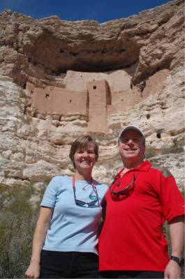 Kathy and Bradley at Montezuma's Castle