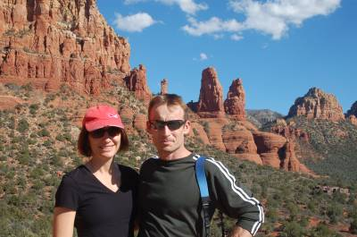 Leanne and John in the red hills of Sedona