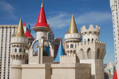 The Excalibur - our gaudy home in Las Vegas!