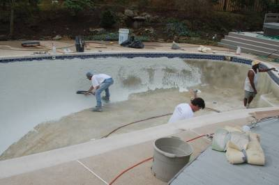 Re-surfacing the pool