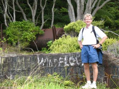 Richard at the Whangamumu Whaling Station