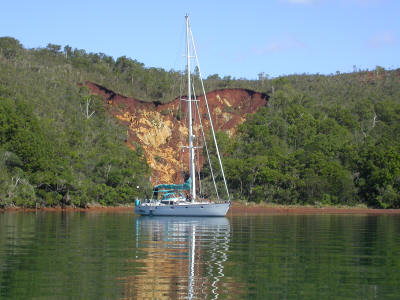 Anchored at Baie de Prony in New Caledonia - 2003