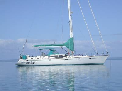 Anchored at Black Reef in the Coral Sea - 2004
